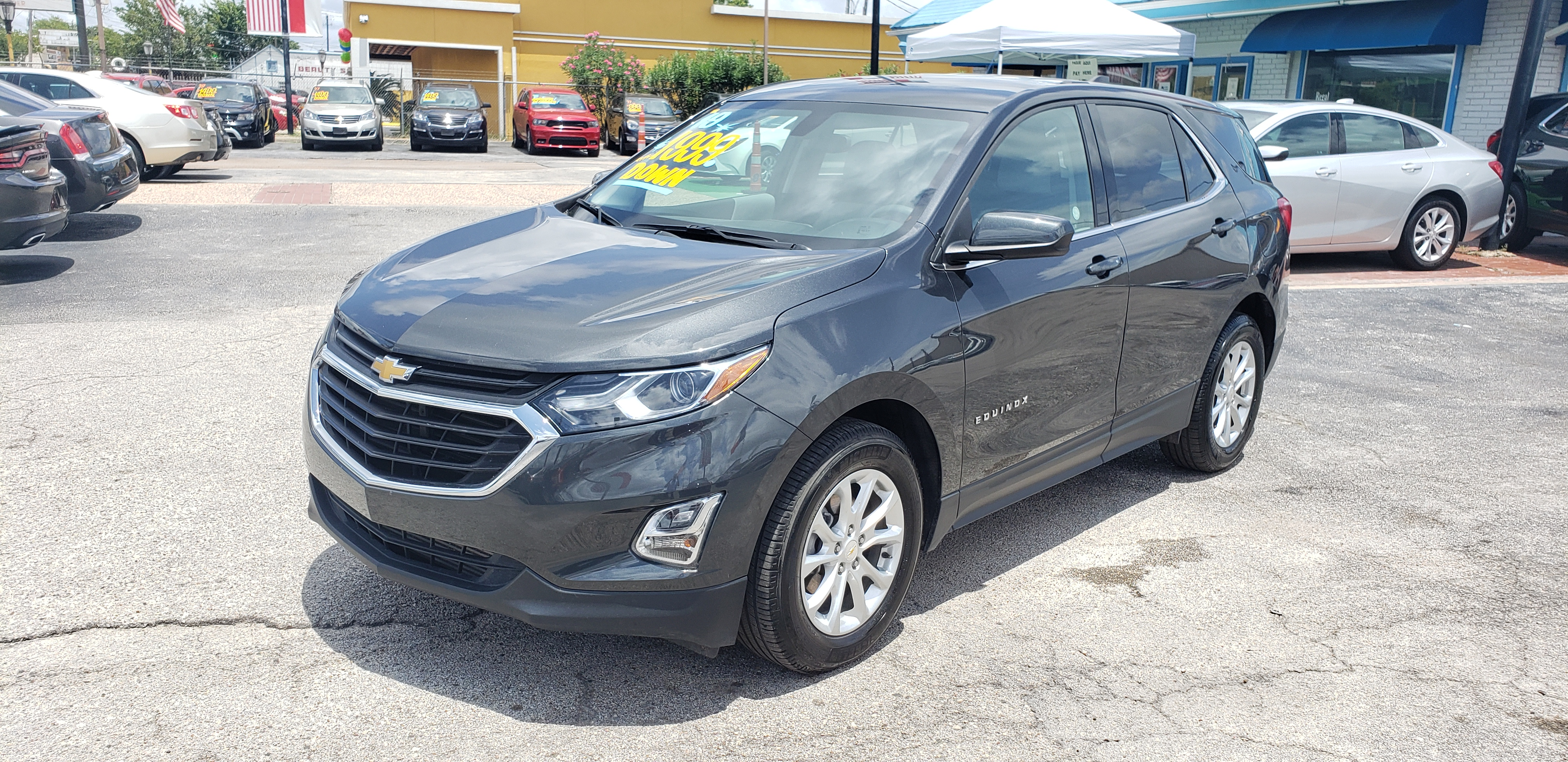 2019 /GRAY Chevrolet Equinox LT 1.5 2WD (2GNAXKEV5K6) with an 1.5L L4 DIR DOHC 16V TURBO engine, 6A transmission, located at 1842 Wirt Road, Houston, TX, 77055, (713) 973-3903, 29.805330, -95.484787 - Photo #0