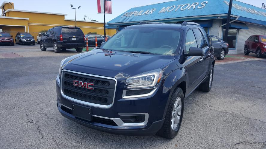2016 Blue GMC Acadia SLE-1 FWD (1GKKRNED5GJ) with an 3.6L V6 DOHC 24V engine, 6A transmission, located at 1842 Wirt Road, Houston, TX, 77055, (713) 973-3903, 29.805330, -95.484787 - Photo #0